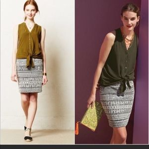 Ikat Printed Pencil Skirt by Sanctuary